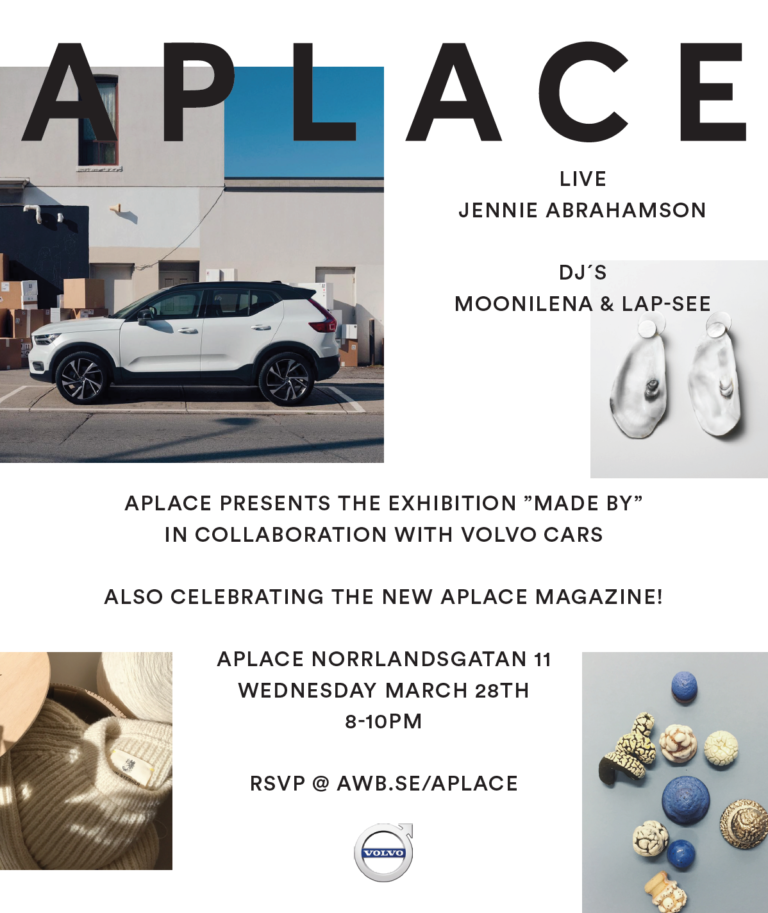 "Aplace x Volvo cars ""Made by"""
